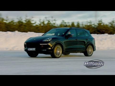 2015 porsche cayenne turbo s first drive review on snow ice in sweden