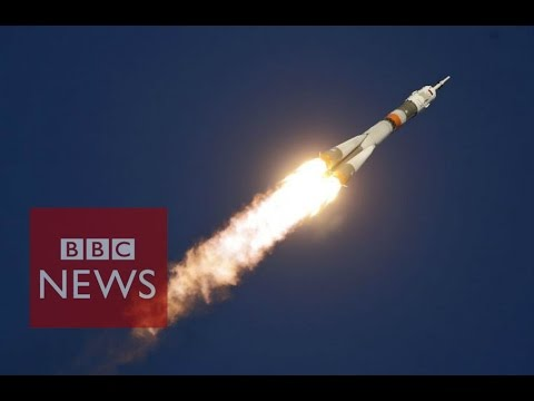 Rocket launch in 360 video - BBC News