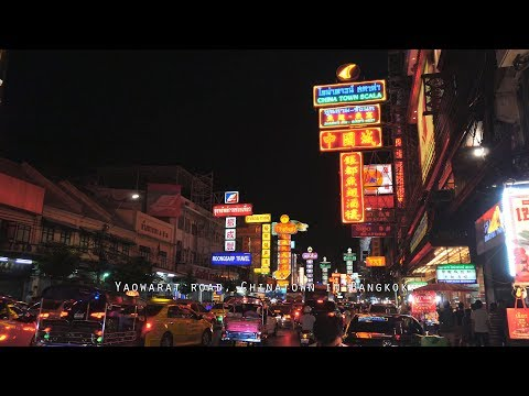 เยาวราช - Yaowarat road, Chinatown in Bangkok, Best street food in Bangkok (Walk through in 4K)