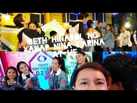 SETH HINABOL NG YAKAP NINA LIE AT KARINA! #PBBBig8tingSalubong Vlog and Interview with the Big 4