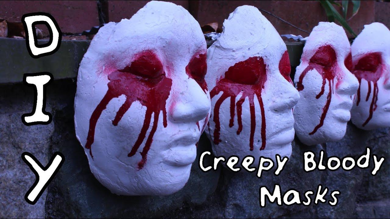 diy creepy bloody mask scary halloween decor diywithjhoy vanessa jhoy youtube