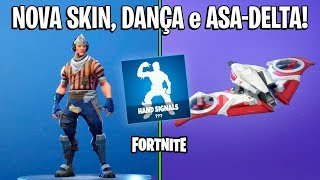 FORTNITE-NEW SKIN, DANCE and HANG-GLIDING!