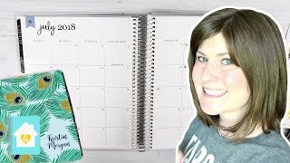 SETTING UP MY 2018-2019 ERIN CONDREN LIFE PLANNER | PLAN WITH ME JULY 2018