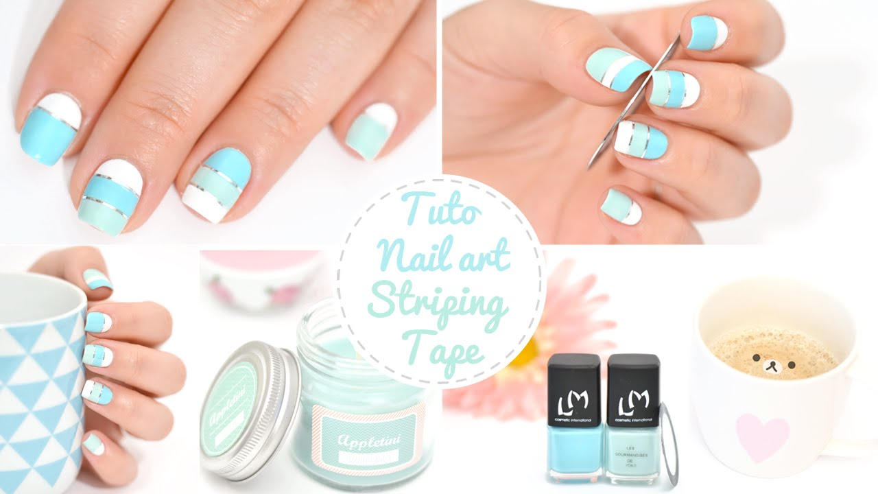 Nail art dbutant striping tape youtube prinsesfo Choice Image