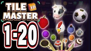 Tile Master 3D Level 1-20 / Triple Match & 3D Pair Puzzle screenshot 5
