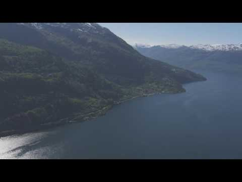 Kinsarvik, Hardangerfjord, Utne - Flying Over Norway