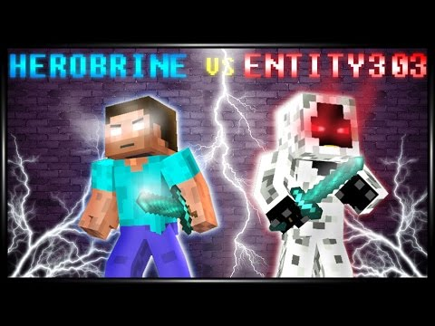 Herobrine Vs Entity303 .:Minecraft Fight Animation:.