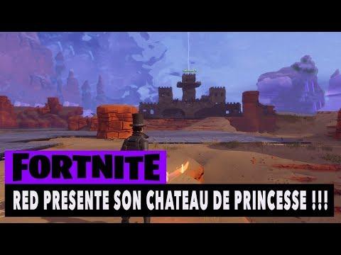 FORTNITE - SAUVER LE MONDE - RED PRESENTE SON CHATEAU DE PRINCESSE !!!