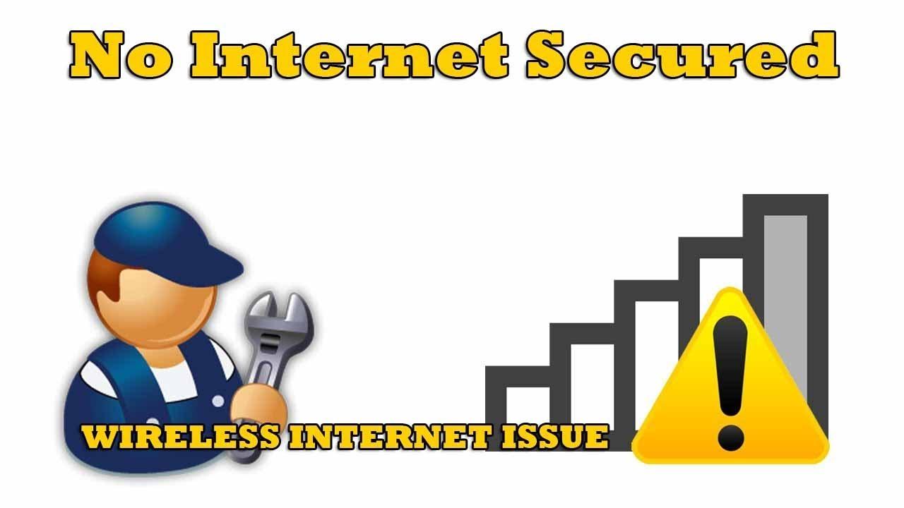 no internet secured windows 10 fix