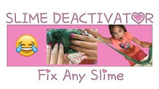 DIY Slime Deactivator!!!!! H๐w to make your old Slime like new again Makeovers
