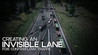 Cities: Skylines | Creating an Invisible Lane for Contraflow Traffic