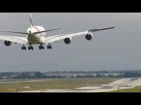 Prague Airport Webcam with LIVE ATC (Airbus A380) (12.08.2016)