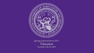 K-State Commencement - Spring 2015 | Education(Commencement Ceremony Schedule: Saturday, May 9, 2015 Technology and Aviation, 10 a.m., Student Life Center, K-State Salina Friday, May 15, 2015 ..., 2015-05-16T18:27:36.000Z)