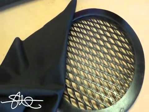 Rejillas personalizada para altavoces de 8 video 9 youtube - Telas para cubrir sofa ...