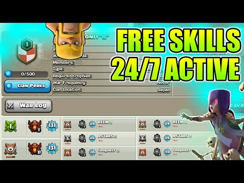 Free Skills ,Free Donation And 24 Hour Active Clan In Clash Of Clans 2018