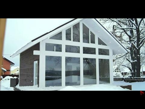 Теплый пол LamaHeat в доме с панорамными окнами