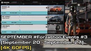 Forza Motorsport 7 - September #Forzathon Events #3 (September 20 - September 27) [4K 60FPS]