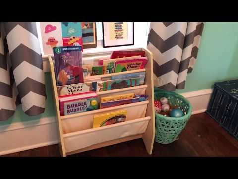 Bold happy playroom tour