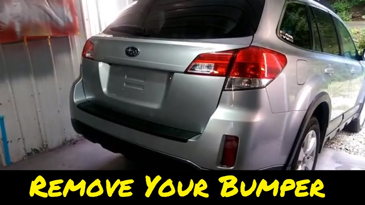 Rear Bumper Cover Removal On A Subaru Outback | How To