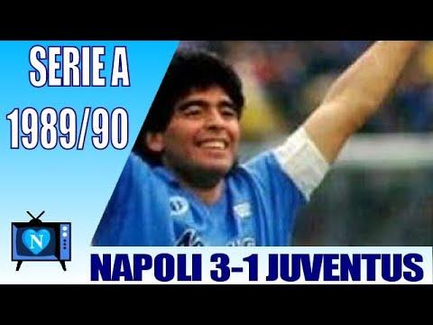 Napoli Juventus 3-1, serie A 1989-90