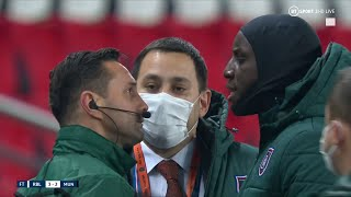 Demba Ba confronts fourth official as PSG Istanbul players leave the pitch over alleged racism