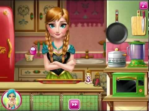 juego de cocina de frozen Juegos de frozen de cocina YouTube