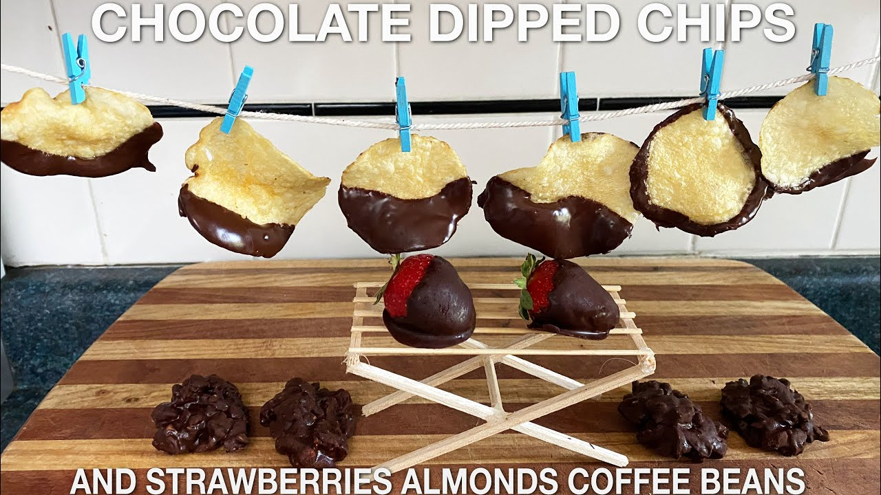 Chocolate Covered Potato Chips Strawberries Almonds Espresso Beans (episode 113)