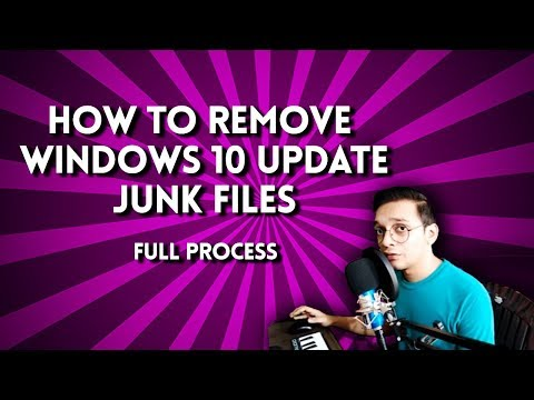 How to clean windows 10 update junk files, disk cleanup 2019