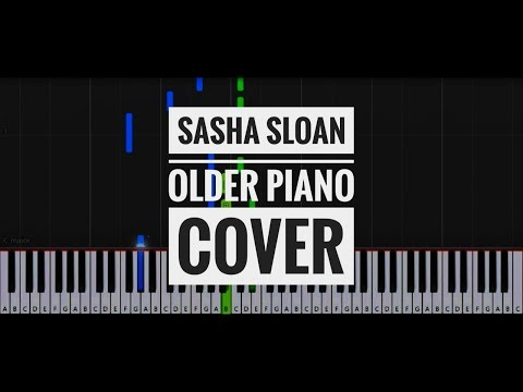 Sasha Sloan - Older short piano cover | synthesia | how to play