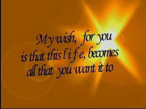 My Wish By Rascal Flatts With Lyrics Free Happy Birthday