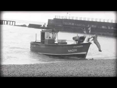 Hastings Fishing Fleet + River Medway Black & White Footage