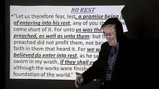 Hebrews 4: Sabbath Rest-Pastor Bill Hughes