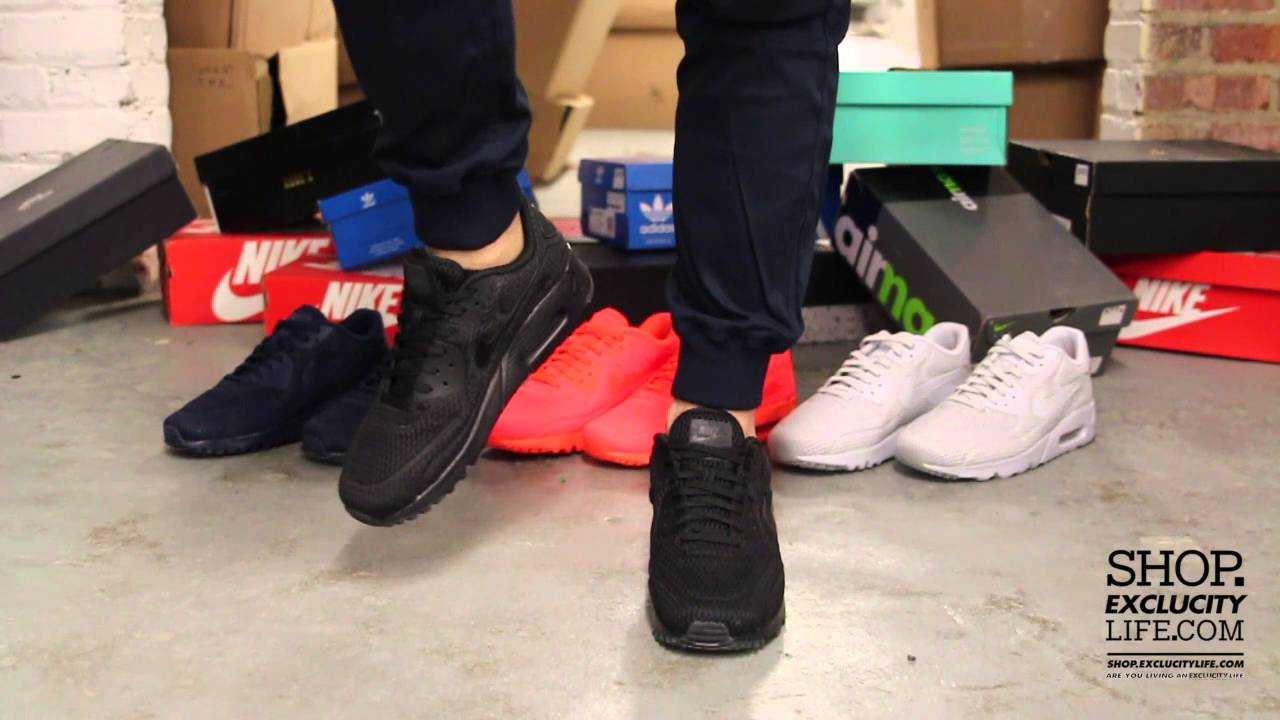5648e7a5c7 Nike Air Max 90 Ultra BR Black Black On feet Video at Exclucity ...