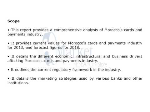 Morocco 39 s Cards and Payments Industry 2014 2018