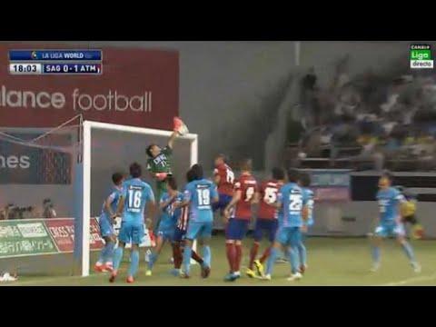 Impresionante gol olímpico del equipo de Simeone