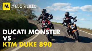 Ducati Monster vs. KTM Duke 890: bicilindriche a confronto[English sub.]