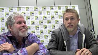 sdcc 11 ron perlman charlie hunnam sons of anarchy interview