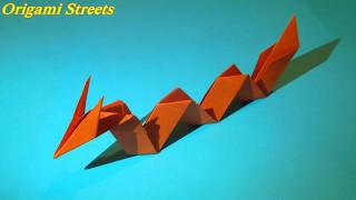 Оригами змей дракон. Как сделать дракона.