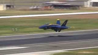 Blue Angels High Speed Vertical Take Off From the Ocean