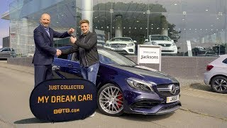 Winner Daniel Tostevin collects his Mercedes A45 AMG thumbnail
