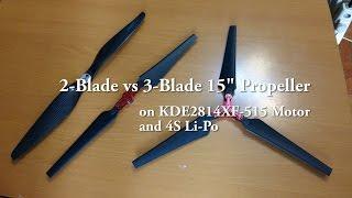 Multicopter Propeller Thrust Test : 2-Blade / 3-Blade / Carbon / Nylon
