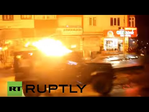 Turkey: Petrol bombs fly at Istanbul protest against killing of Kurdish lawyer