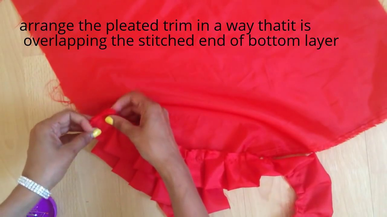 How To Make And Attatch Pleats Fabric Manipulation
