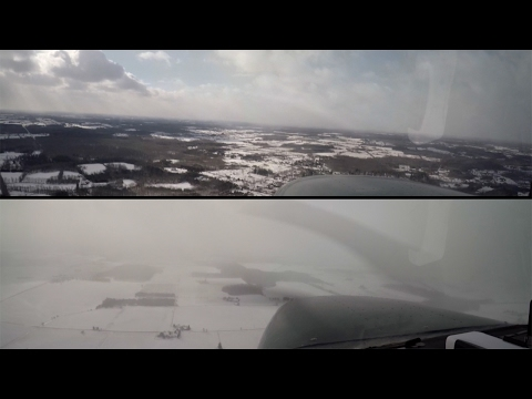 Storm Chasing in a Cessna: Lake Effect Snow Squalls VFR to IMC Risk + Avoidance - Flight VLOG