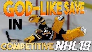 NHL 19 GODLIKE GOALIE SAVE in COMPETITIVE HUT! (CS)