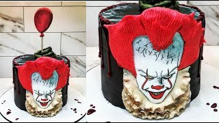Cake decorating tutorials | Halloween PENNYWISE IT cake | Sugarella Sweets