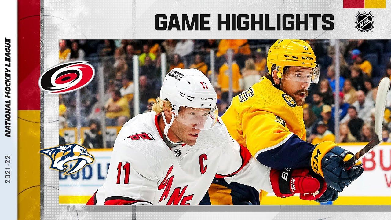 Download Hurricanes @ Predators 10/16/21 | NHL Highlights