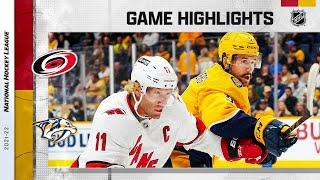 Hurricanes @ Predators 10/16/21 | NHL Highlights