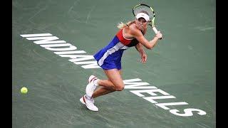 2018 Indian Wells Second Round   Caroline Wozniacki vs Lara Arruabarrena   WTA Highlights