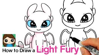 How to Draw a Light Fury | How to Train Your Dragon